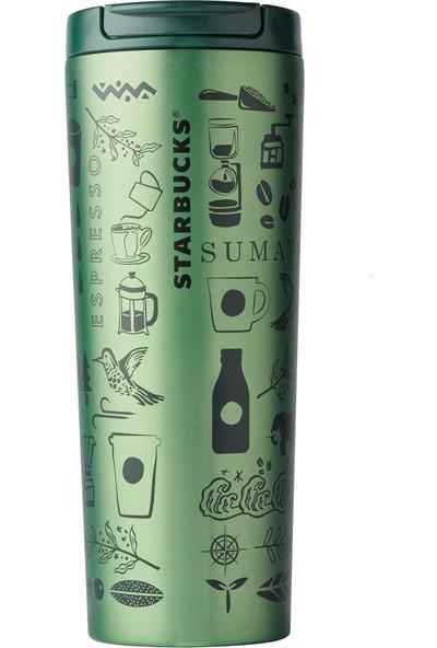 Starbucks® 50. Yıl Özel Seri Termos - Parlak Yeşil Renkli 473 ml