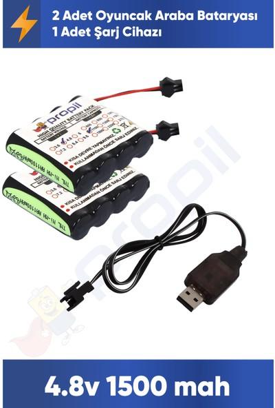 Tnl Oyuncak Araba Pili ve USB Şarj Cihazı 4.8V 1500 Mah 2'li