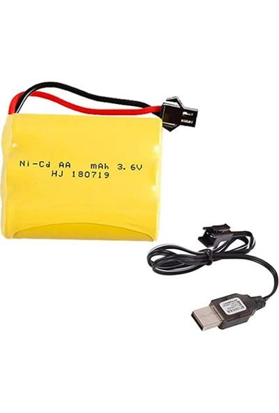 Tnl Oyucak Bataryası Siyah Soket ve USB Şarj Cihazı 3.6V 2700 Mah
