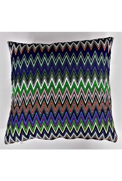 B&M Design Zigzag Desen Kırlent Kılıfı