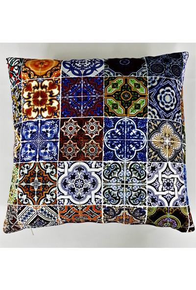 B&M Design Küçük Mozaik Desen Kırlent Kılıfı