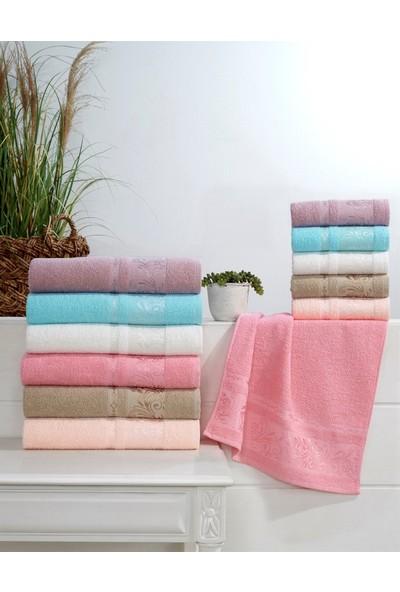 Soley Dry Gına Jakarlı Havlu 6lı Set