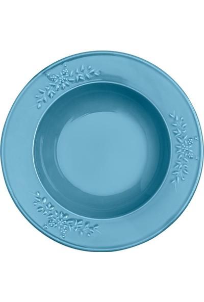 Emsan Rustica 6lı Çukur Tabak Mavi