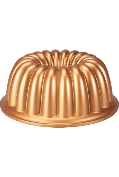 Emsan Arya 24 cm Döküm Kek Kalıbı Gold