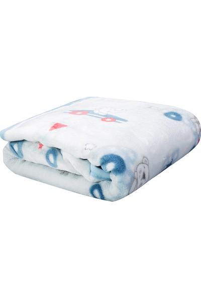 Karaca Home Mavi My Car Bebek Soft İspanyol Battaniye