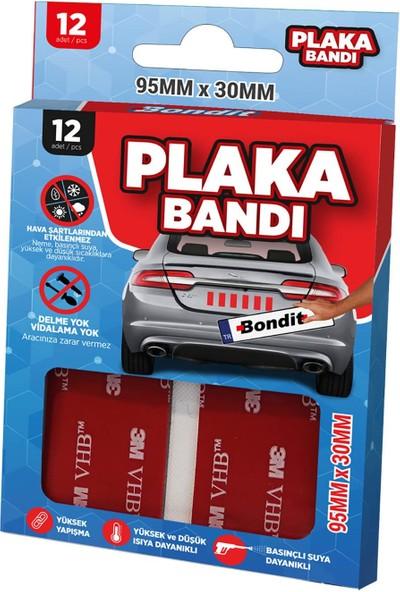 Bondit 3m Vhb Araç Plaka Bandı 12 Adet
