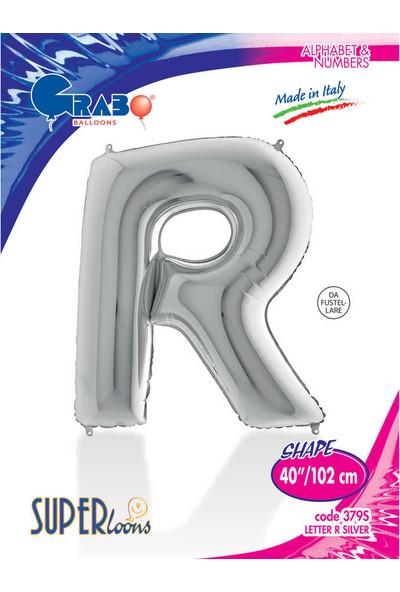 Grabo Harf Balon Folyo 100 cm Gümüş R