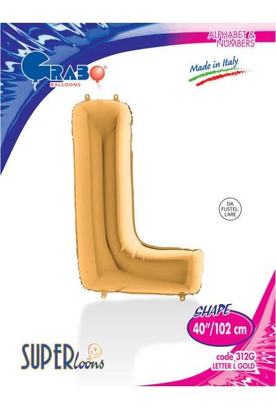 Grabo Harf Balon Folyo 100 cm Gold L