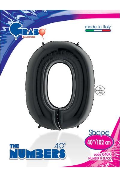 Grabo Rakam Balon Folyo 100 cm Siyah 0