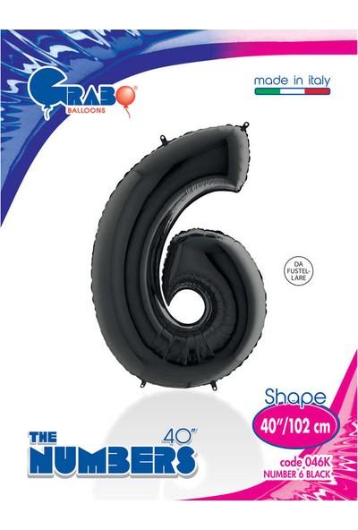 Grabo Rakam Balon Folyo 100 cm Siyah 6