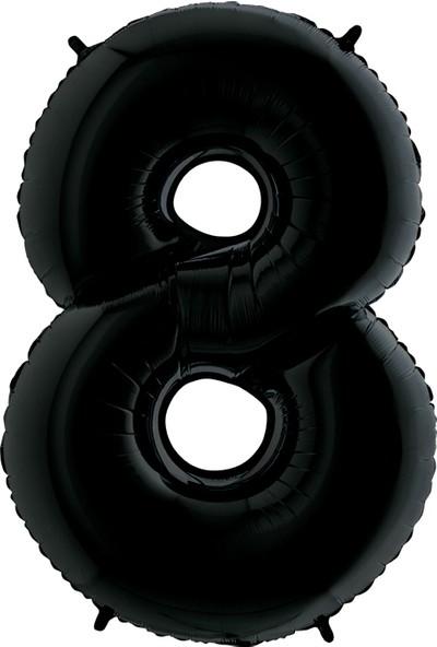 Grabo Rakam Balon Folyo 100 cm Siyah 8