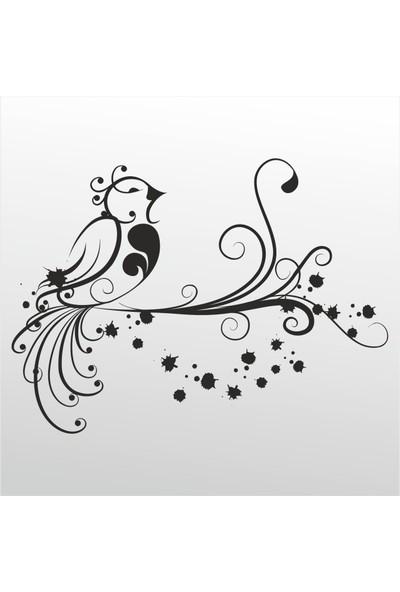 Technopa Folyo Sticker Kuş Deseni 103 30 cm Uzunluk Dekoratif Sticker