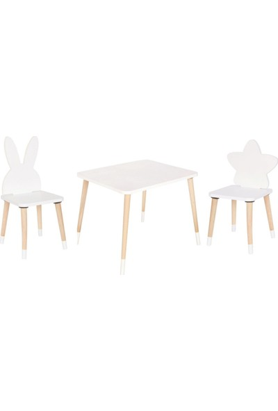 Go Baby Yıldız & Tavşan Aktivite Masa Sandalyesi ( 2 Sandalyeli )