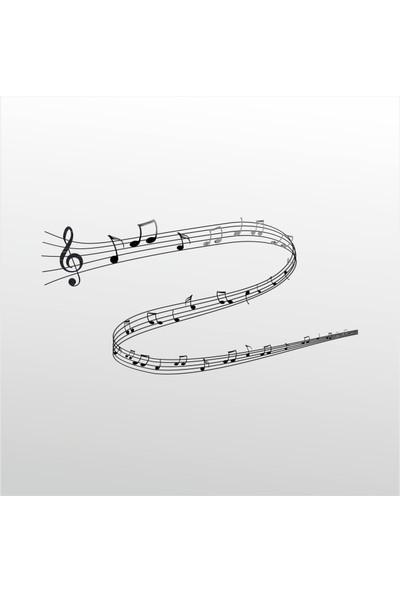 Technopa Folyo Sticker Müzik Notaları 60 cm Uzunluk Dekoratif Sticker