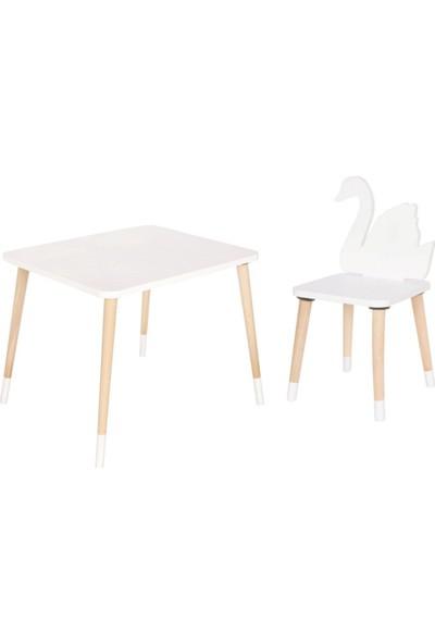 Go Baby Kuğu Tasarım Aktivite Masa Sandalyesi