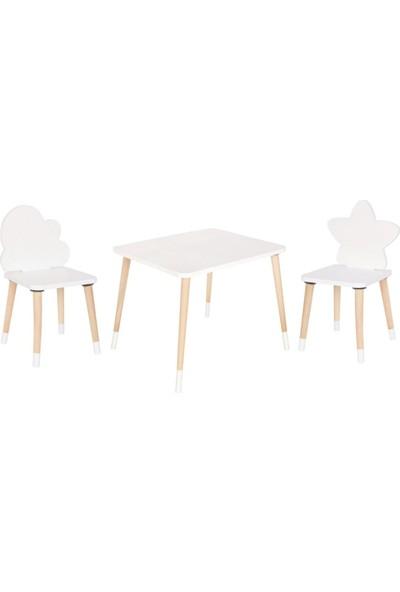 Go Baby Yıldız & Bulut Aktivite Masa Sandalyesi ( 2 Sandalyeli )