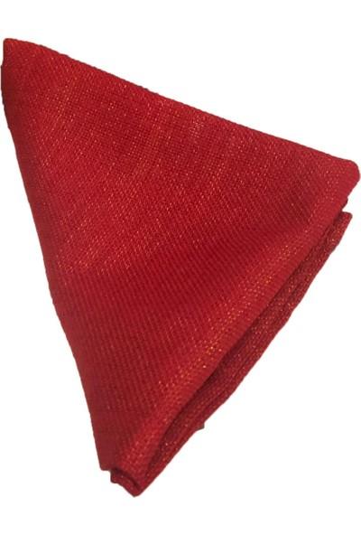 Derinteks Keten Simli Kırmızı Renk Dertsiz Masa Örtüsü 130 x 240 cm + 6 Adet Peçete