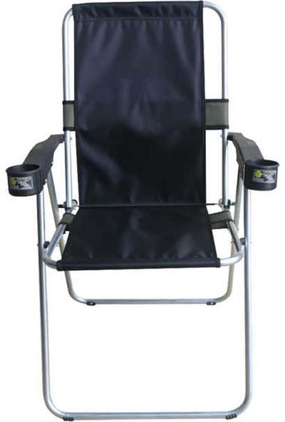 Atef Lüks Bardaklıklı Sandalye Siyah