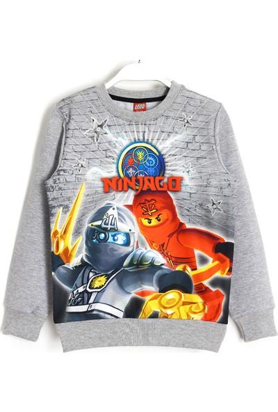 Ninjago LEGO Ninjago 3D Dijital Baskı Çocuk Sweatshirt 5 - 13 Yaş Gri