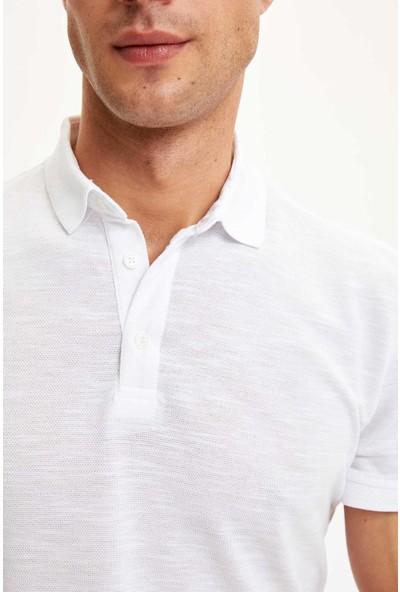 DeFacto Polo Yaka Regular Fit Basic Tişört