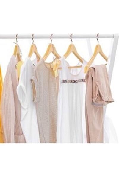 Hepsı 1 Ahşap Ürünler Ahşap Askı Kıyafet Elbise Gömlek ve Pantolon Askısı 36 Adet Gold Kancalı Özel Seri