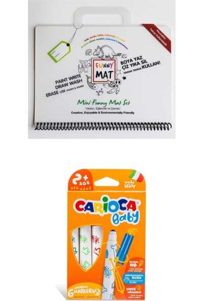 Akademi Çocuk Funny Mat Mini Set + Carioca Joy Keçeli Kalem Seti 12'li