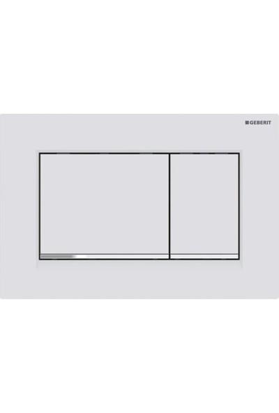 Geberit SIGMA30 Kumanda Paneli, Çift Basmalı, Mat Beyaz/parlak/mat Beyaz - Temizliği Kolay Kaplama - 115.883.JT.1