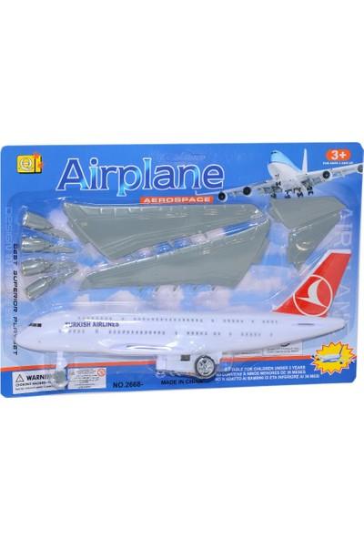 Can-Em Oyuncak 2668-2 Kartela Sürtmeli Uçak