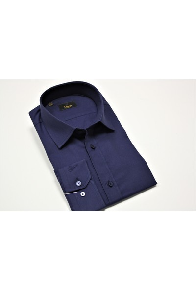 Chamis France Slimfit Lacivert Oxford Gömlek