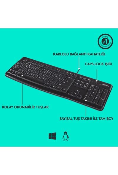Logitech K120 Kablolu Klavye (Q Tuş Dizimi)-Siyah