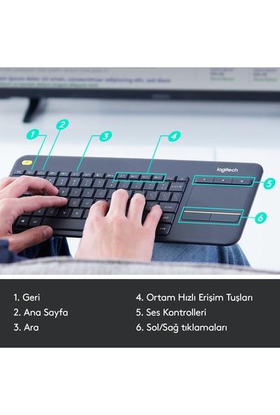 Logitech K400 Plus Kablosuz Touch Klavye-Siyah