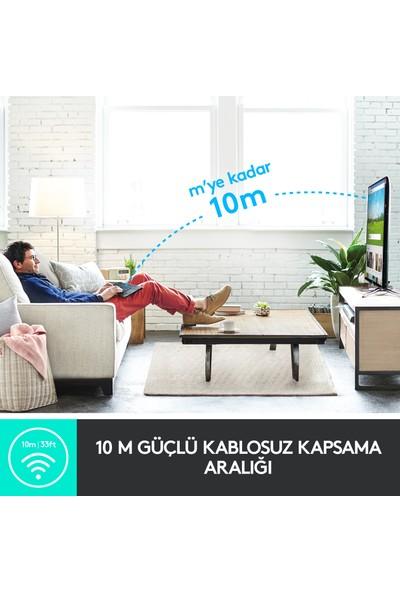 Logitech K400 Plus Dokunmatik Yüzeyli Türkçe TV Klavyesi - Siyah