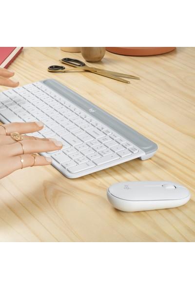 Logitech MK470 Kablosuz Klavye & Mouse Seti-Beyaz