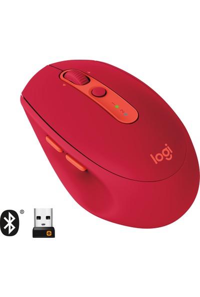 Logitech M590 Multi-Device Sessiz Kablosuz Mouse-Kırmızı