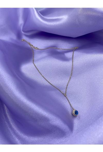 Amon Jewelry 925 Ayar Gümüş Nazar Boncuklu Nainsi Kolye