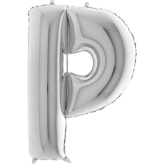 Grabo Harf Balon Folyo 100 cm Gümüş P