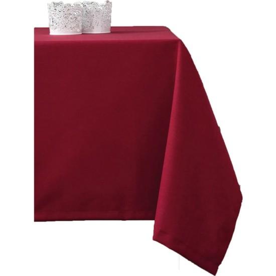 Derinteks Düz Bordo Renkli Dertsiz Masa Örtüsü 150 x 200 cm
