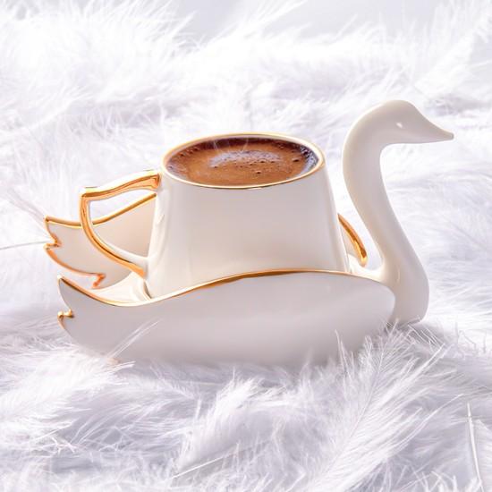 Karaca Kuğu 2 Kişilik Kahve Fincan Takımı