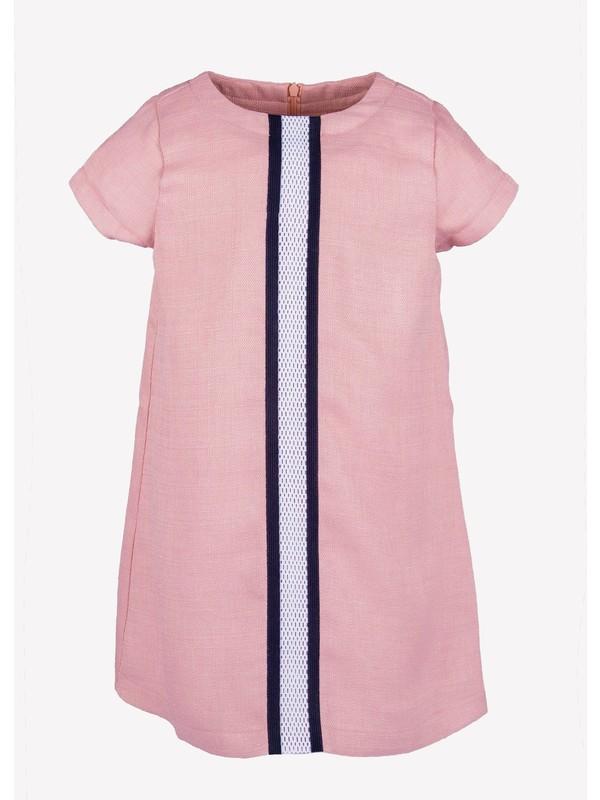 Ozmoz Kısa Kollu Astarlı Yazlık Kız Çocuk Elbise
