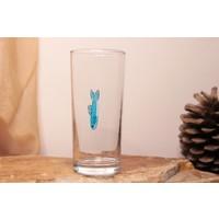 Adamodart Mavi Balık Tekli Rakı Bardağı