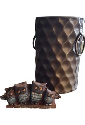 Lumier 4'lü Baykuş Figürlü Boyanabilir Dekoratif Obje ( Süs - Dekor - Tamamlayıcı Figür )