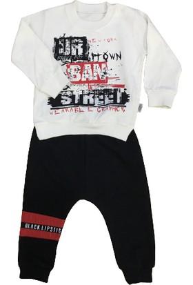 Brava Unisex 3' Lü Bebek Takımı Yelekli/ Alt Üst Eşofman Kırmızı-Siyah 6-9-12-18-24 Ay