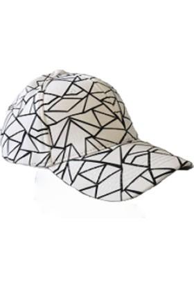 Cap Ny Hip Hop Model Cap Şapka Erkek Beyaz-Beyzbol Basketbol Polo Spor