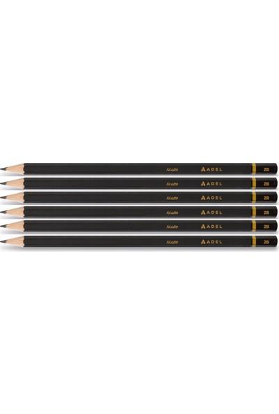 Adel Matte 2b Kurşun Kalem Klasik Renk 6'lı