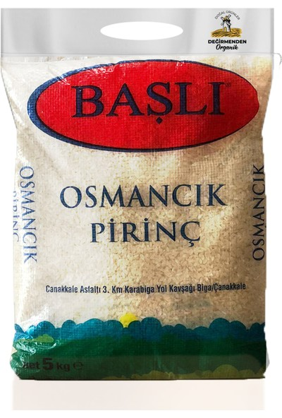 Değirmendenorganik Başlı Osmancık Pirinç 5 kg (Iri Taneli - Yerli)