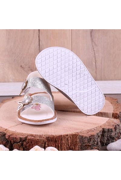 Akıllı Şirin İlk Adım Kız Çocuk Sandalet Gümüş
