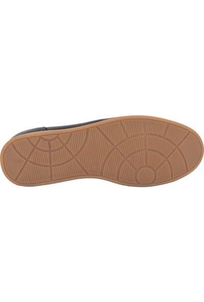 Venüs Siyah Deri Kadın Günlük Ayakkabı 2112404
