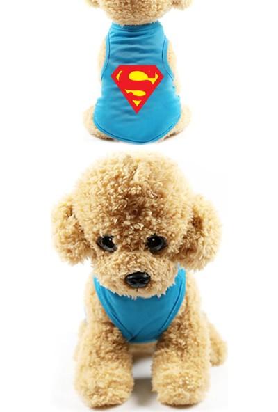 Marksreyon Kedi & Köpek Elbiseleri Çizgi Karakterli Sevimli Gezdirme Giysileri - Mavi - L