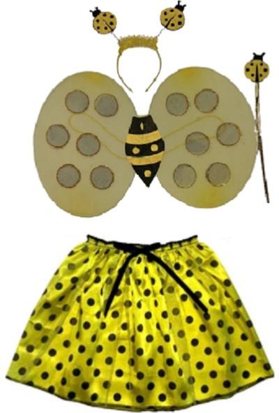 Kostümce Etekli Arı Kostümü Seti