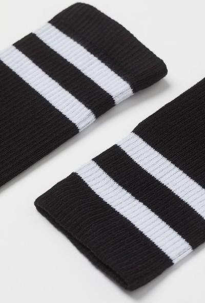 Mem Socks 5'li Uzun Konçlu Çizgili Çorap